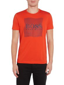 Hugo Boss Regilar fit rubberised grid print t shirt