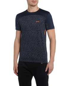 Hugo Boss Tianotech slim fit tech fabric t shirt