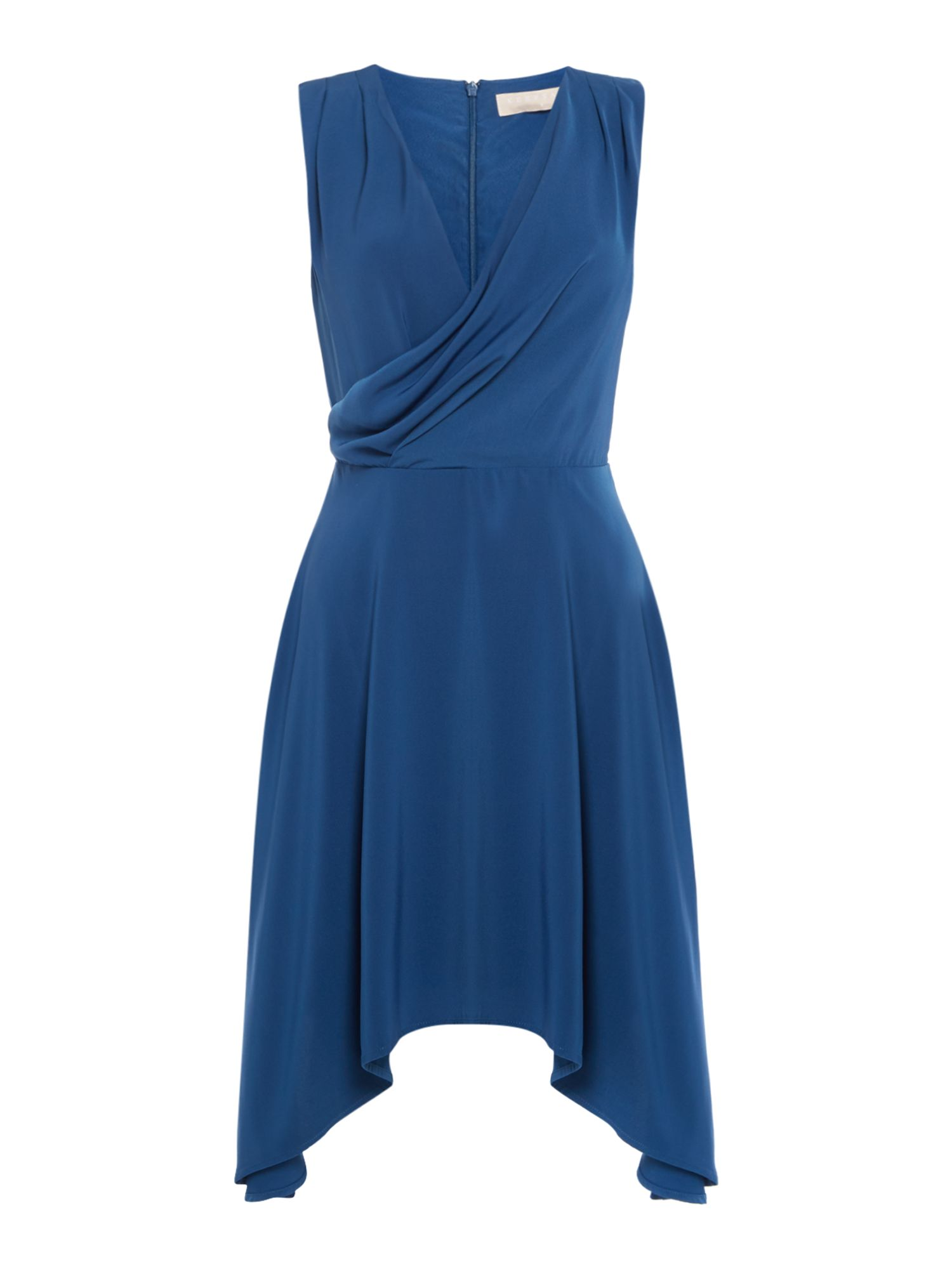 Keepsake Sleeveless Cowl Neck Midi Dress, Blue