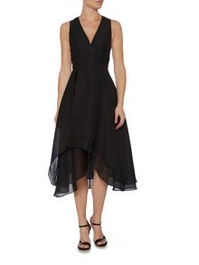 Keepsake Sleeveless V Neck Dip Hem Dress