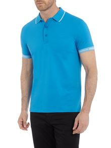 Hugo Boss Paule slim fit tipped sleeve logo polo