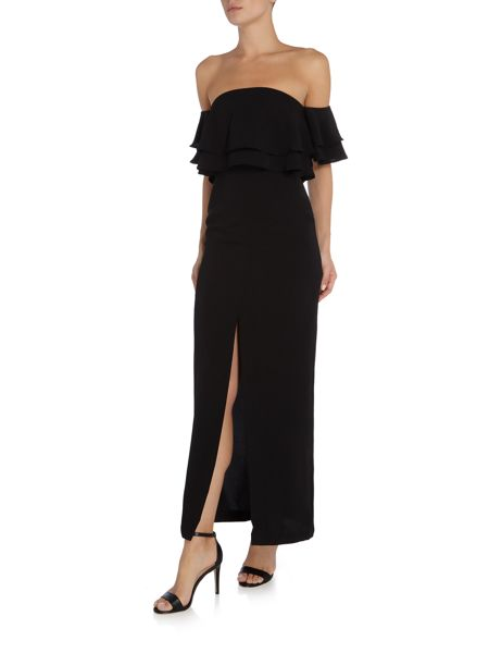 Keepsake Off Shoulder Two Fold Maxi Dress