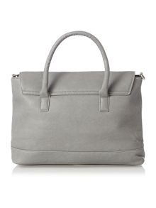 Pieces Grey foldover tote bag