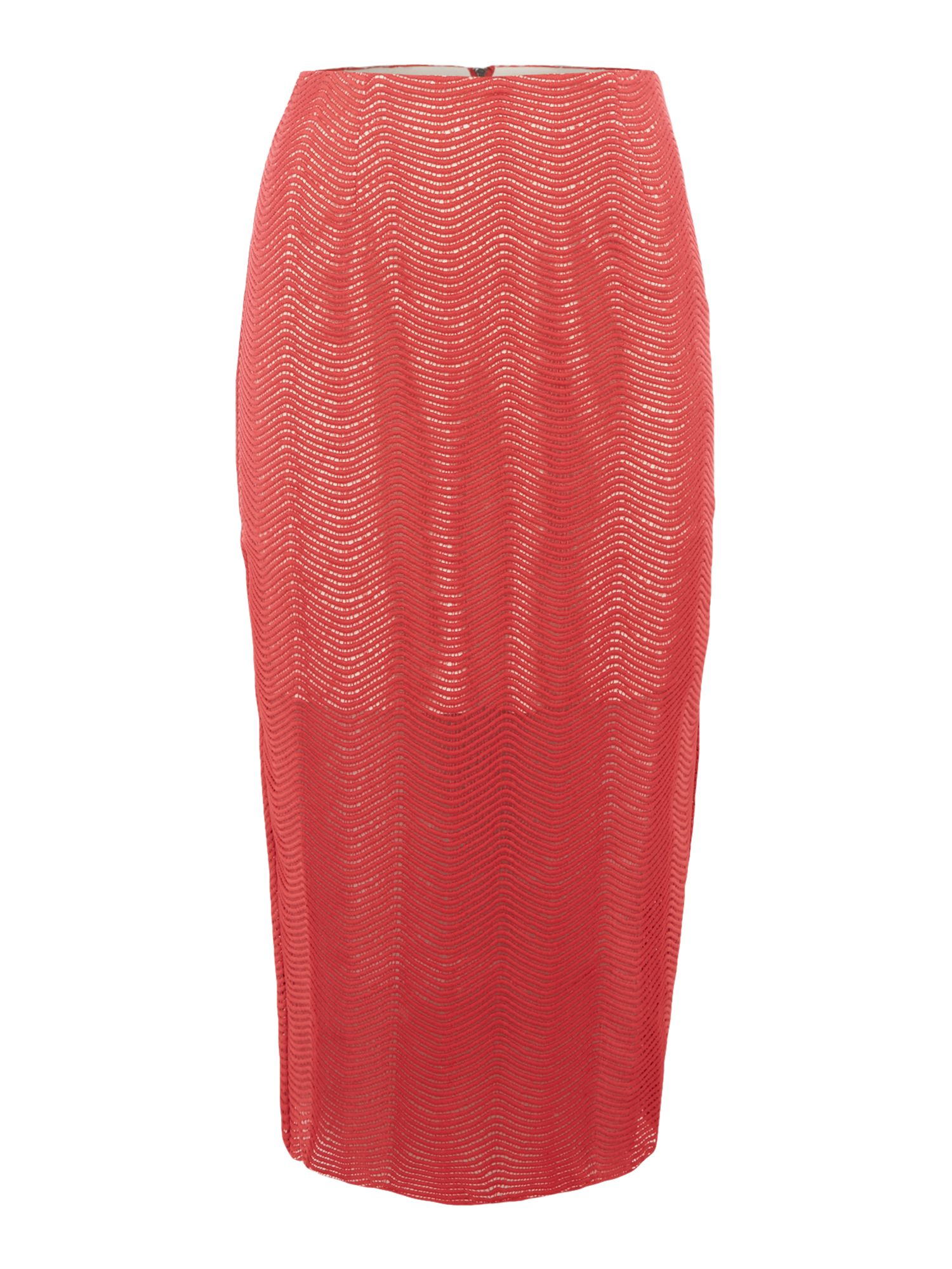 Keepsake Lace Pencil Skirt, Red