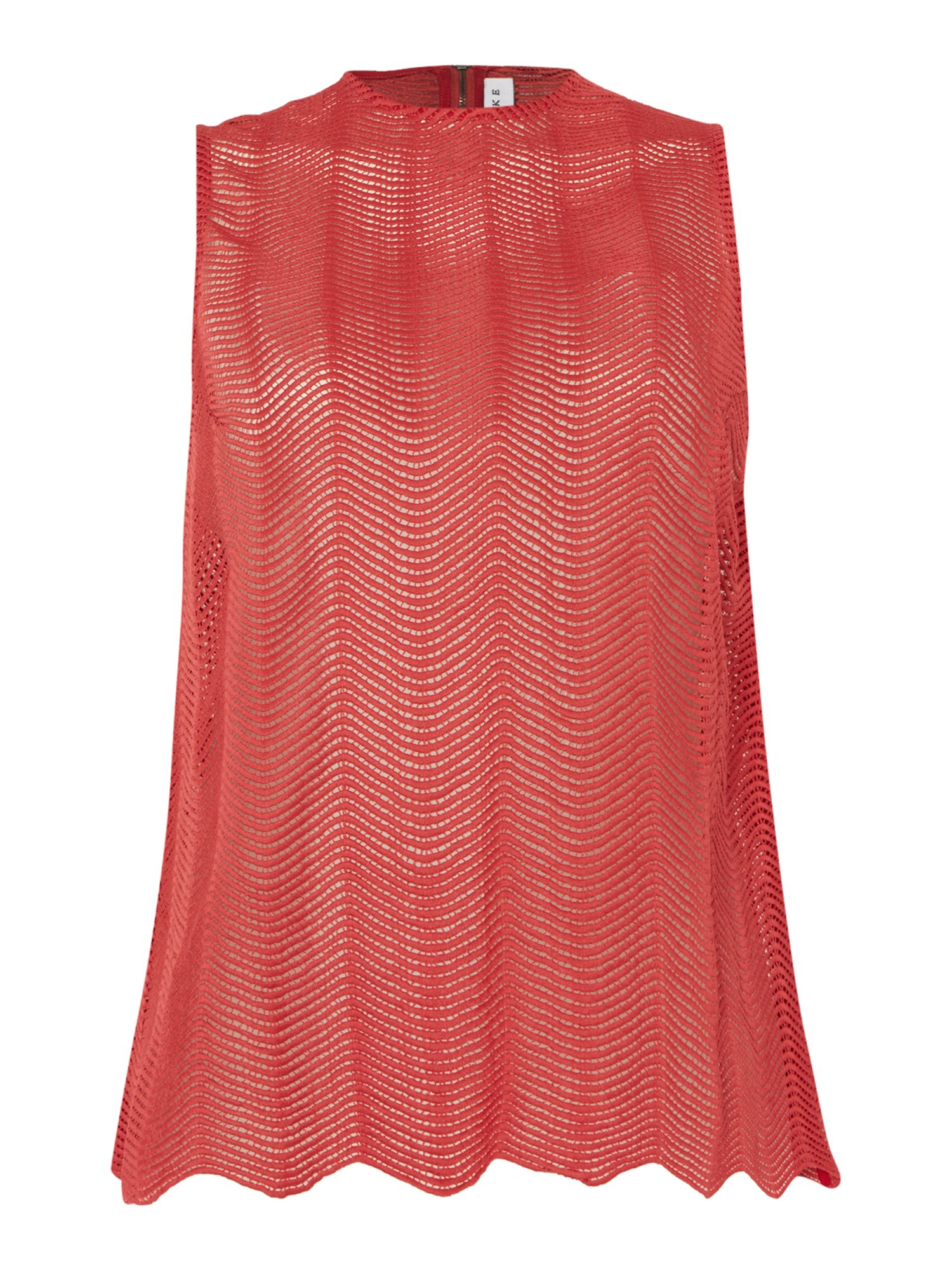 Keepsake Sleeveless Lace Tank Top, Red