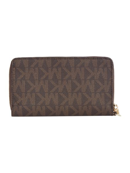 Michael Kors Jetset brown multi function ziparound purse