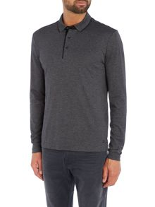 Hugo Boss C-Prato slim fit long sleeve fine stripe polo