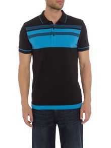 Hugo Boss Paule 2 slim fit block stripe polo shirt