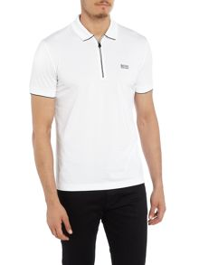 Hugo Boss Philix regular fit zip collar polo shirt