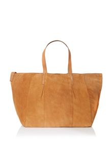 Pieces Brown suede hobo bag