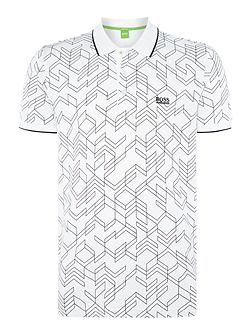 Paddy 2 regular fit large geo print polo