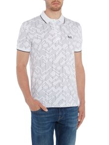 Hugo Boss Paddy 2 regular fit large geo print polo