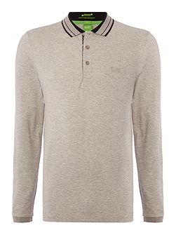 Pleesy long sleeve slim fit polo