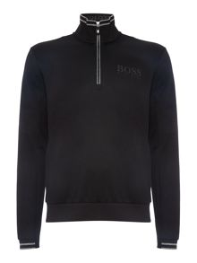 Hugo Boss 1/4 zip logo sweat top