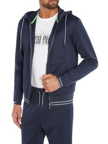 Hugo Boss Saggy zip through sweat hoody