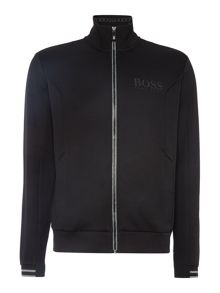 Hugo Boss Skaz zip thru funnel neck sweat top