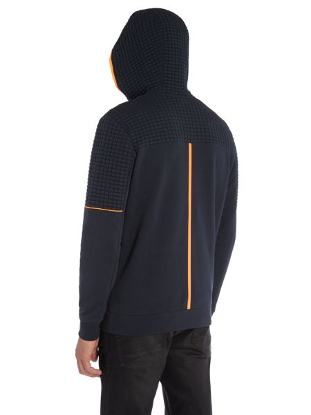 Hugo Boss Saggy 1 quilted detail zip thru hoody