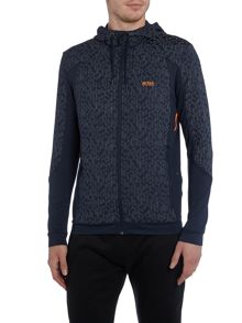 Hugo Boss Saggytech all over print tech fabric hoody