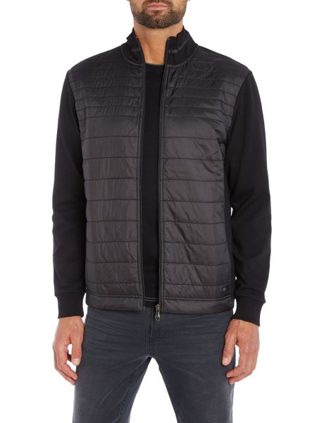 Hugo Boss C-pizzoli quilted nylon zip thru sweat top