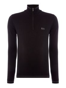 Hugo Boss Zime zip through funnel neck cardigan
