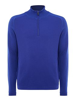 Zop half zip wool jumper