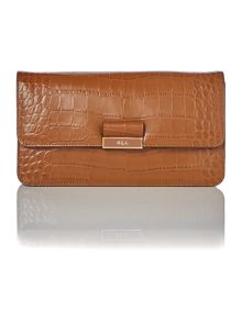 Lauren Ralph Lauren Lynwood tan farah clutch bag