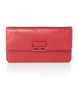 Lynwood red snake farah clutch bag