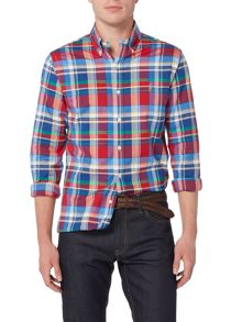 Polo Ralph Lauren Long sleeve slim fit stretch multi check oxford