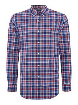 Long sleeve slim fit large pop check shirt