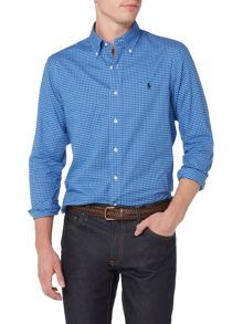 Polo Ralph Lauren Long sleeve slim fit mini check shirt
