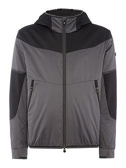 Jarono lightweight zip through hoodied jacket