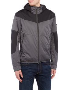 Hugo Boss Jarono lightweight zip through hoodied jacket