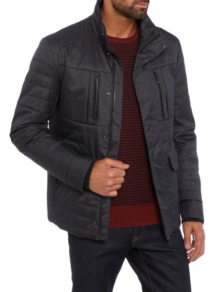 Hugo Boss C-corkins padded 4 pocket zip through jacket