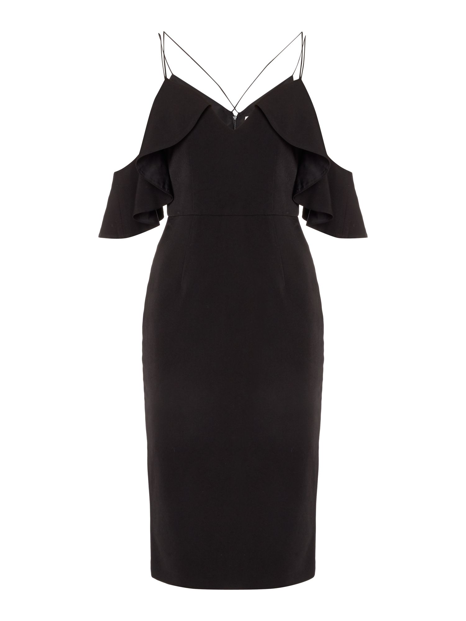 Talulah Midi Dress, Black