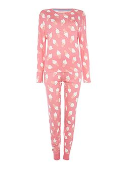 Ice cream long sleeve pyjama set