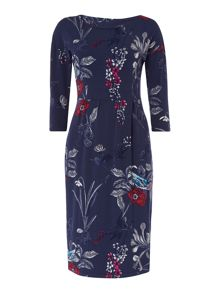 Joules Drop shoulder bottom wrap dress