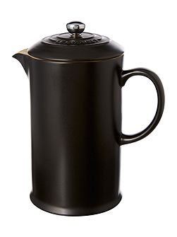 Cafetiere with Metal Press, Satin Black