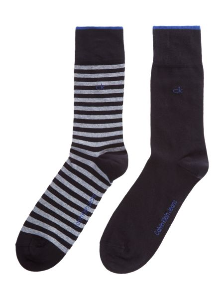 Calvin Klein 2 pack Two Bar Stripe socks