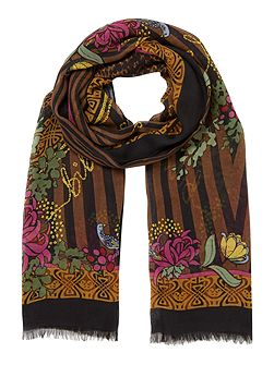 Roman Tiger Rectangle Scarfblack