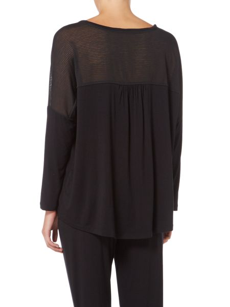 Linea Sheer stripe lounge top
