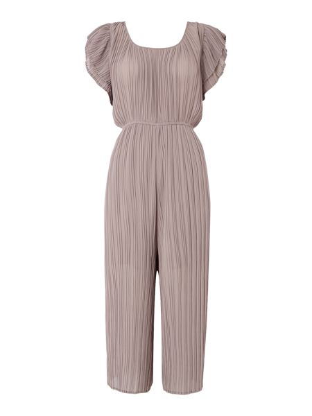 LYDC Frill Sleeve Pleated Cullotte Jumpsuit