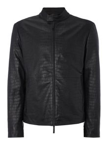 Armani Collezioni Leather Bomber Jacket