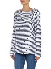 Joules Long Sleeve Printed Jersey Top