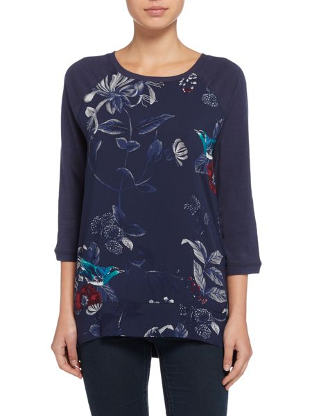 Joules Jersey Woven Mix Top
