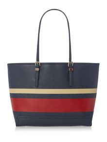 Tommy Hilfiger Honey multicolour stripe large tote bag