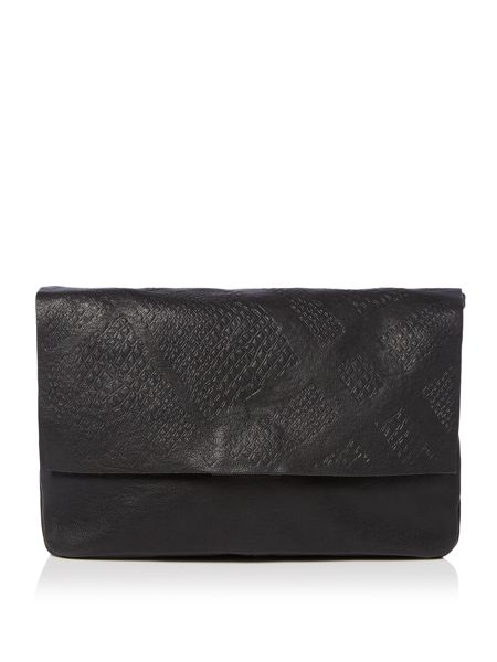 Pieces Black leather snake crossbody bag