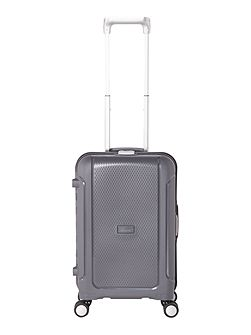 Clip it charcoal 8 wheel hard cabin suitcase