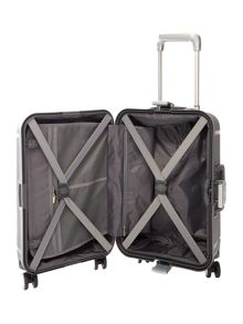 Linea Clip it charcoal 8 wheel hard cabin suitcase