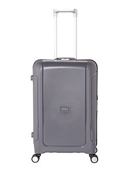 Clip it charcoal 8 wheel hard medium suitcase