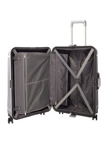Linea Clip it charcoal 8 wheel hard medium suitcase